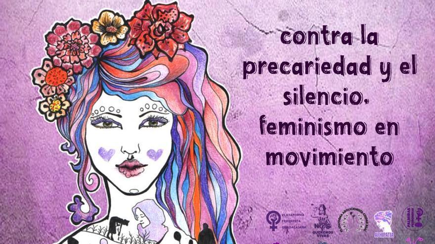 Cartel de Feministas de Pueblo de Castilla-La Mancha por el 8M