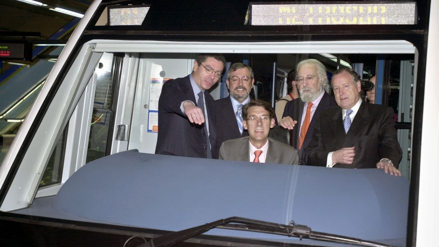 Alberto Ruiz Gallardón, durante la inauguración de MetroSur. /J.L Pino