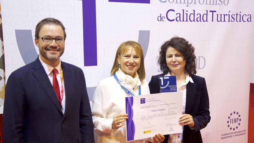 Gran Canaria recibe el galardón como finalista en la categoría 'Mejor Destino'