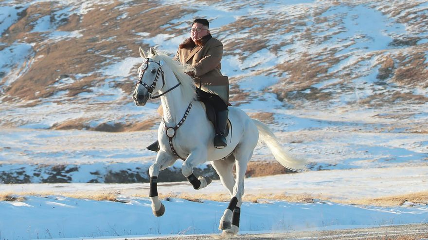 Kim Jong-un a caballo