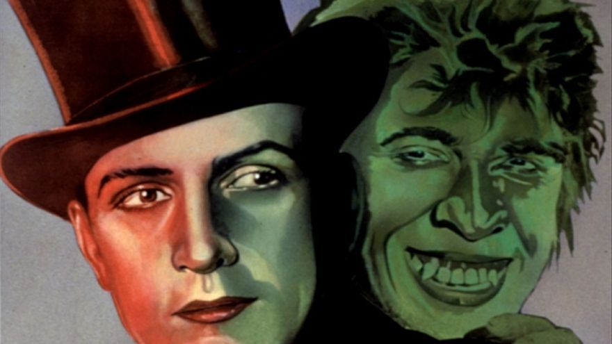 Fredric March on the cover of Dr Jekyll and Mr Hyde (1931)