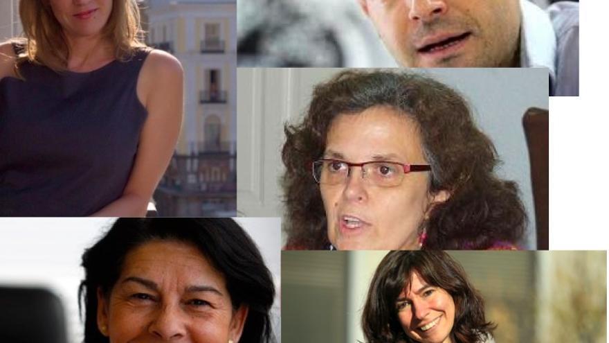 Los participantes en el debate 'Crisis de régimen y unidad popular'