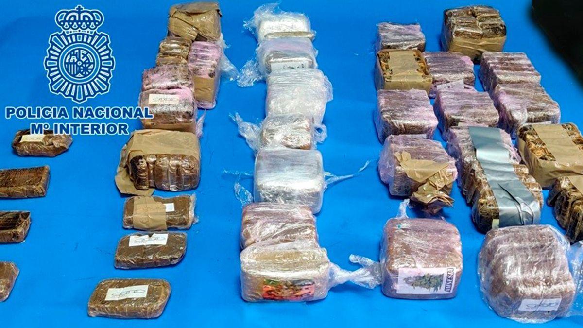 Droga incautada por la Policía Nacional en la operación.
