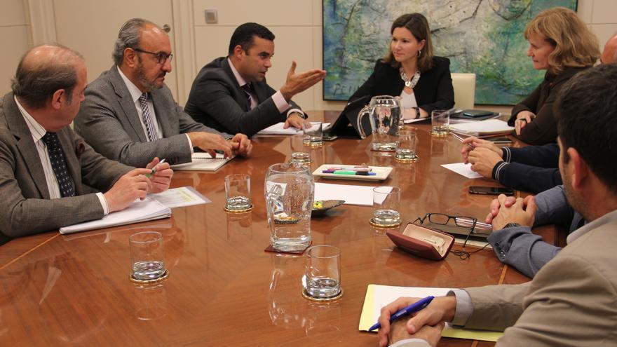 Imagen de una de las reuniones mantenidas estos días en Madrid, con el viceconsejero canario Abel Morales