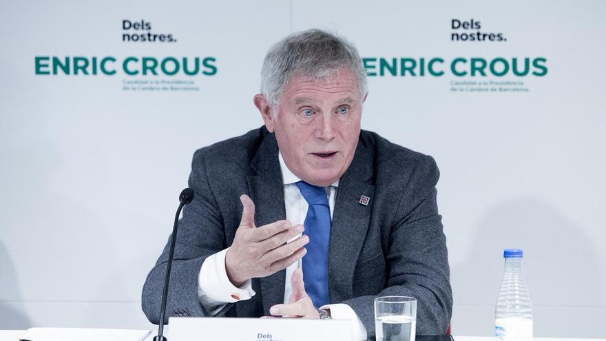 Enric Crous, en la presentación de su candidatura