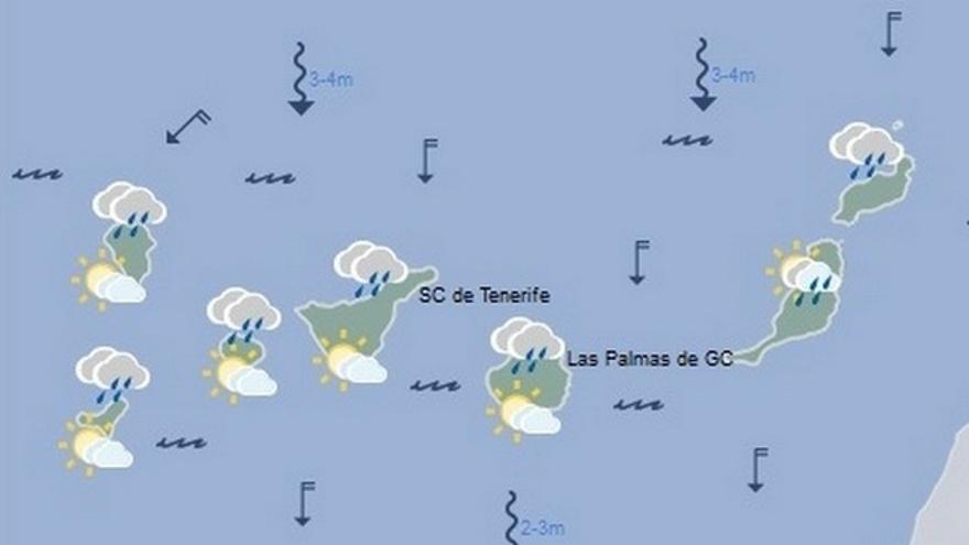 Predicción del tiempo en Canarias para este domingo, 18 de diciembre