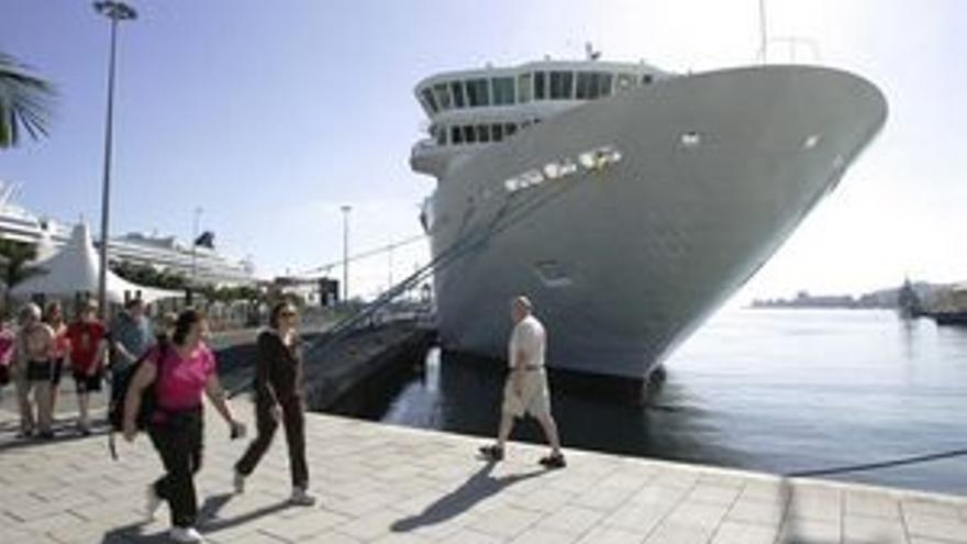Uno de los cruceros en el Puerto de La Luz. (ACFI PRESS)