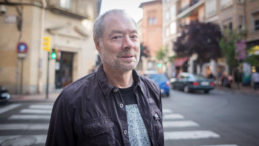 Pepe Gálvez, guionista de cómic, en Zaragoza.