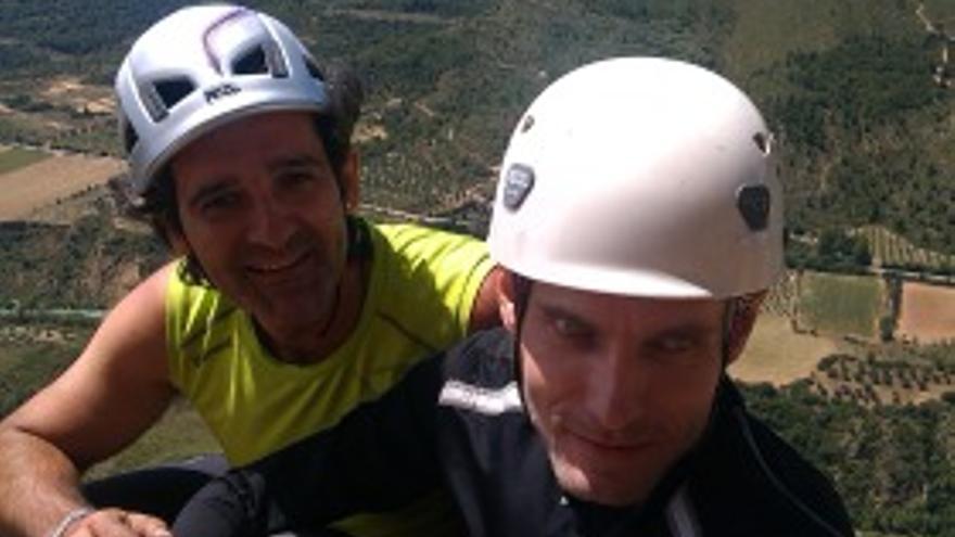 Manuel Cepero y Ricardo Pérez en Riglos.