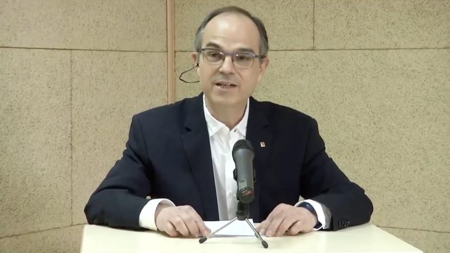 Jordi Turull interviene en un acto de JxCat en La Seu d'Urgell desde la prisión de Soto del Real