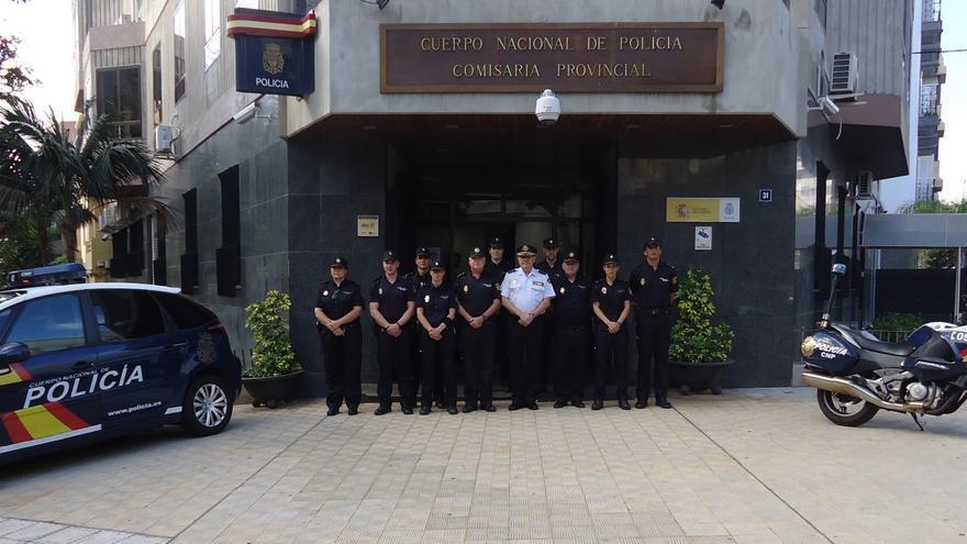 Agentes de la Policía Nacional en Santa Cruz de Tenerife