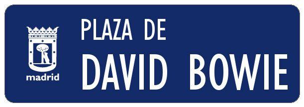 Recreación del hipotético cartel dedicado a la plaza de David Bowie | SOMOS MALASAÑA