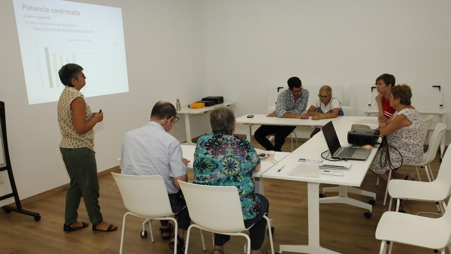 Una de las aulas informativas de la nueva oficina