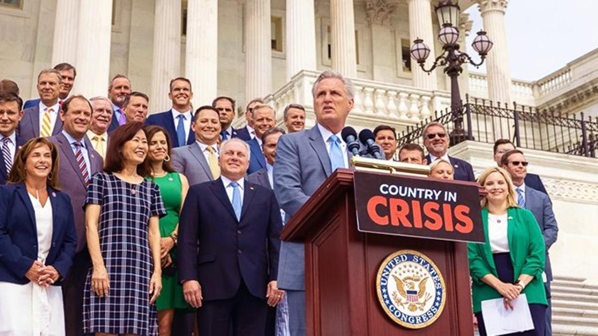 El jefe de la bancada republicana en la Cámara de Representantes de Estados Unidos, Kevin McCarthy.