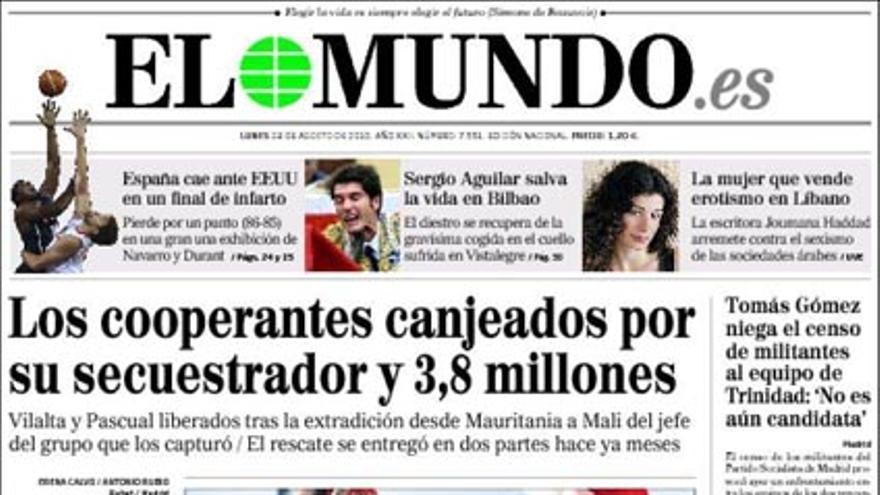 De las portadas del día (23/08/2010) #4