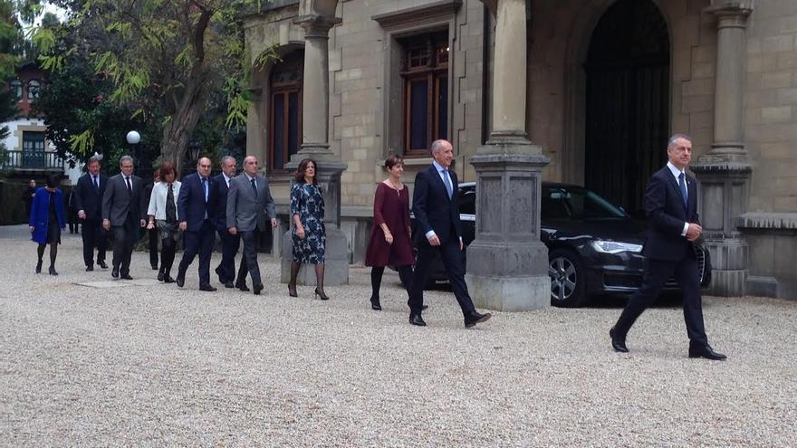 El nuevo Gobierno vasco, en Ajuria Enea
