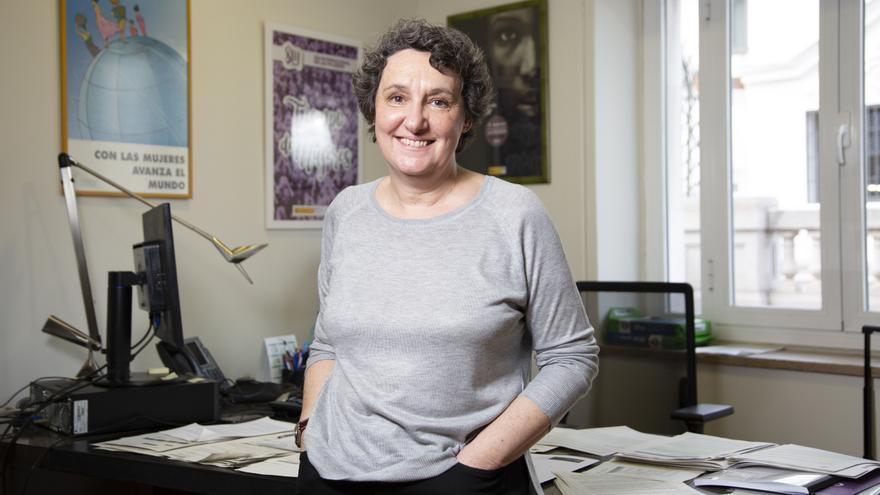 Beatriz Gimeno, directora del Instituto de la Mujer, en su despacho después de la entrevista con eldiario.es.