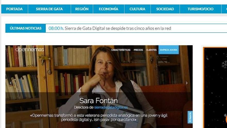 Sierra Gata Digital despedida cierre Sara Fontan