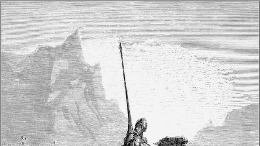Ilustración de Sancho y Don Quijote.   Gustave Doré