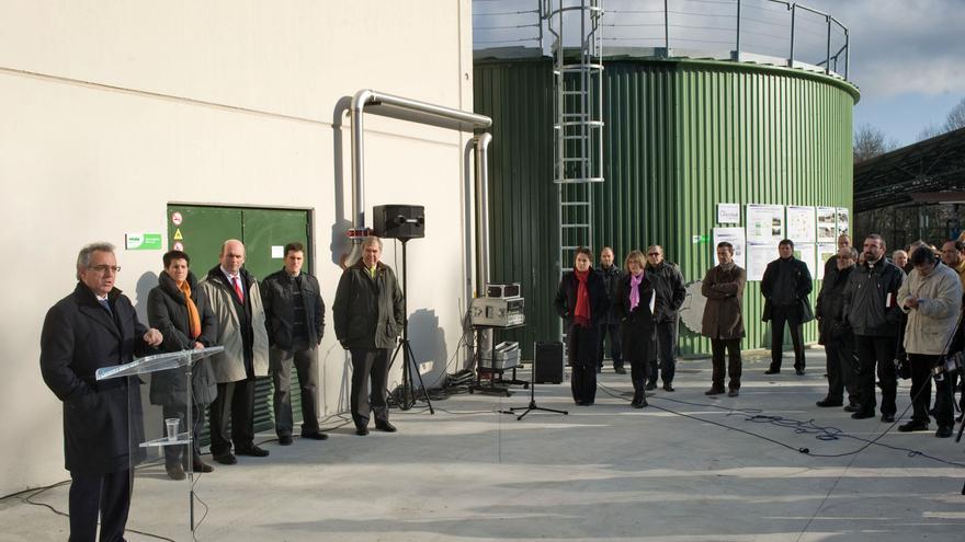 Inauguración de la planta de biogas de Ultzama.