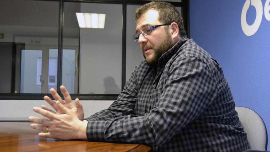Antonio Mantecón durante la entrevista con eldiario.es. | RUBÉN VIVAR