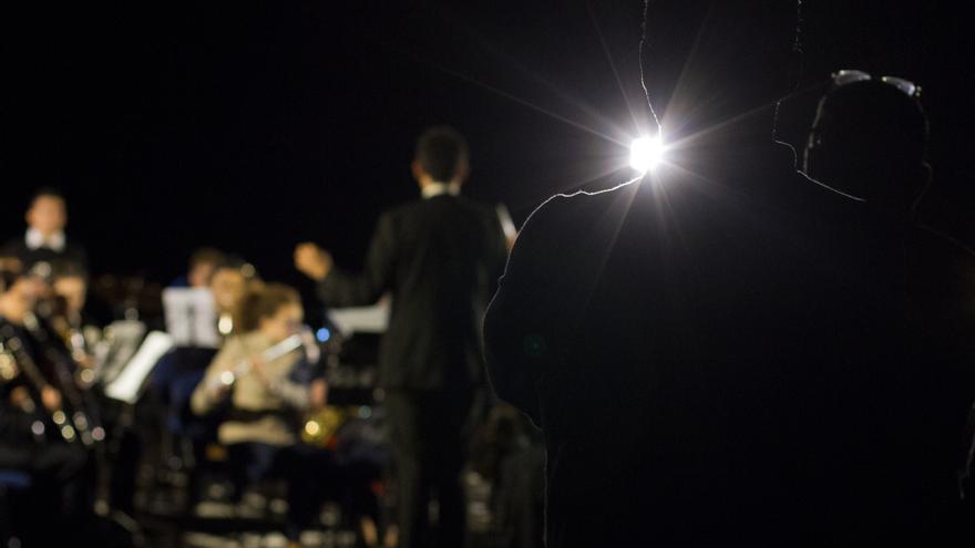 Imagen de un concierto en Fuencaliente tomada por IVÁN BRIONES.