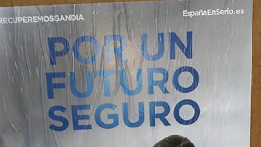 El cartel donde está el exalcalde bajo sospecha y Rajoy