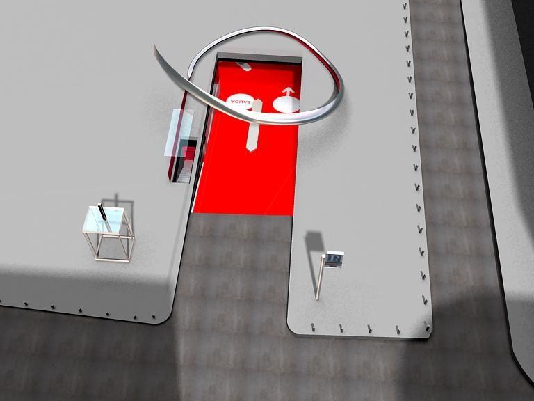 Infografía del proyecto inicial para la entrada de vehículos | Ilustración: Teresa Sapey