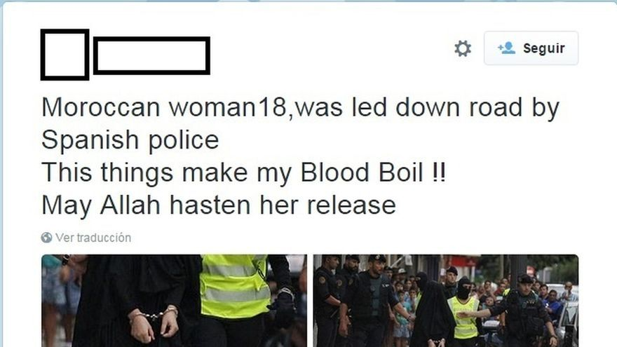 Radicales islamistas cargan contra la Guardia Civil en twitter por el arresto de la yihadista de Gandía