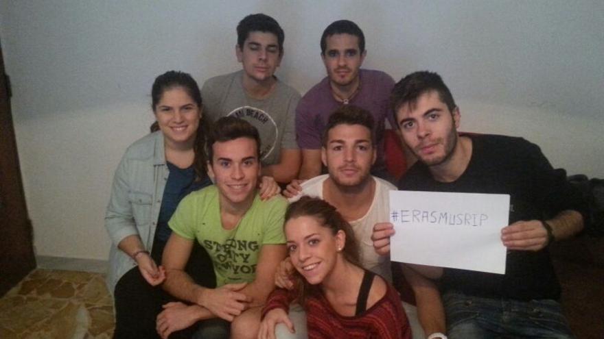 Grupo de estudiantes españoles de Erasmus en la Università degli Studi di Foggia