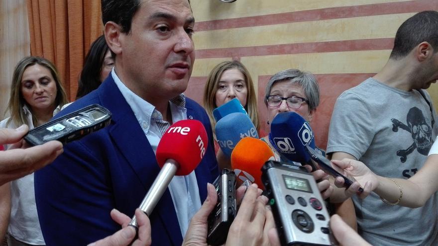 """Moreno (PP-A) pide a Susana Díaz """"un pasito más"""" y que promueva un gobierno de coalición PP-PSOE-C's"""
