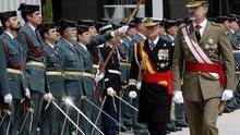 Felipe VI, durante una visita a la Academia de Oficiales de la Guardia Civil