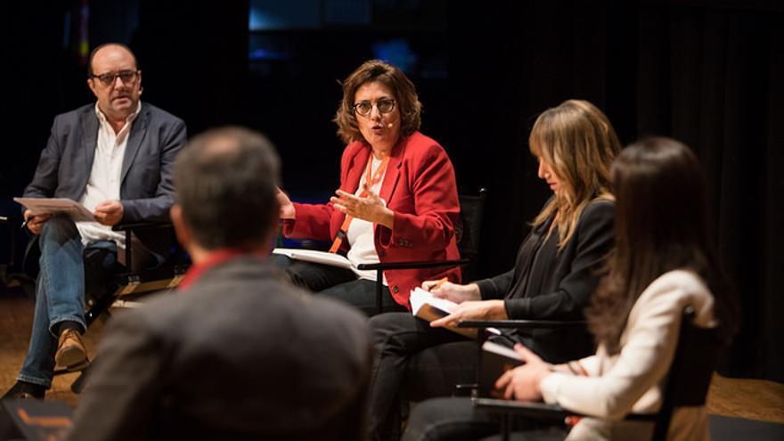 Montserrat Domínguez, en la ponencia. JAVIER BROTO/CPD