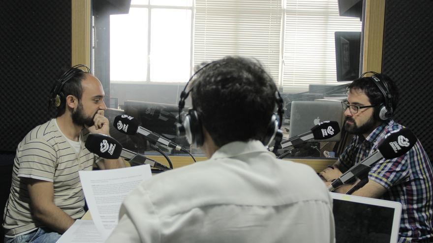 David G. Ortiz y José Luis Avilés de Hoja de Router durante el programa - Álvaro Vega