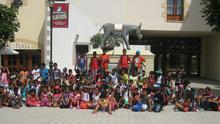 La expedición de niños y niñas saharauis que ha visitado Sendaviva.