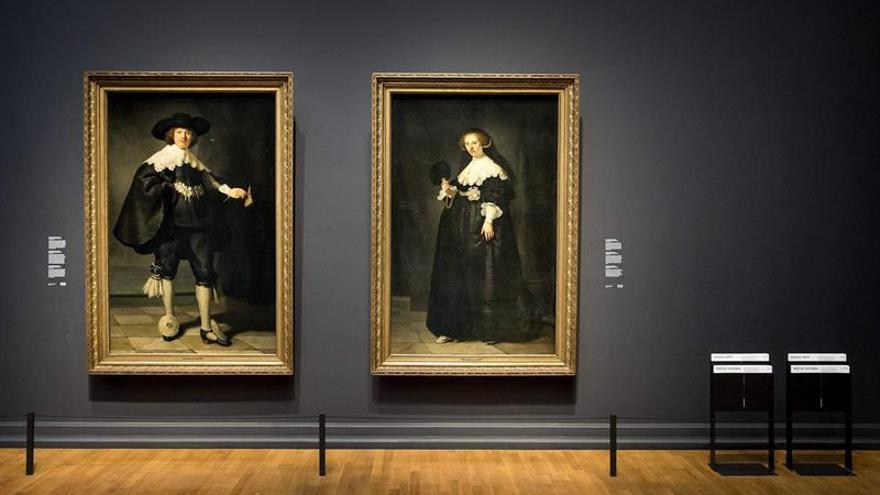 """Rijksmuseum acoge desde el sábado el díptico de Rembrandt """"Marten y Oopjen"""""""