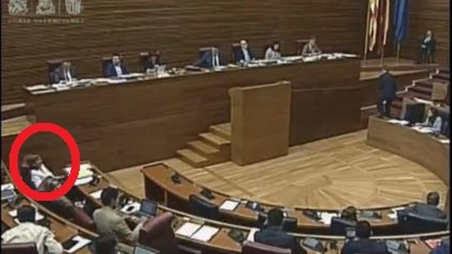 La líder del PP valenciano se burla de la comunidad china en el pleno de les Corts