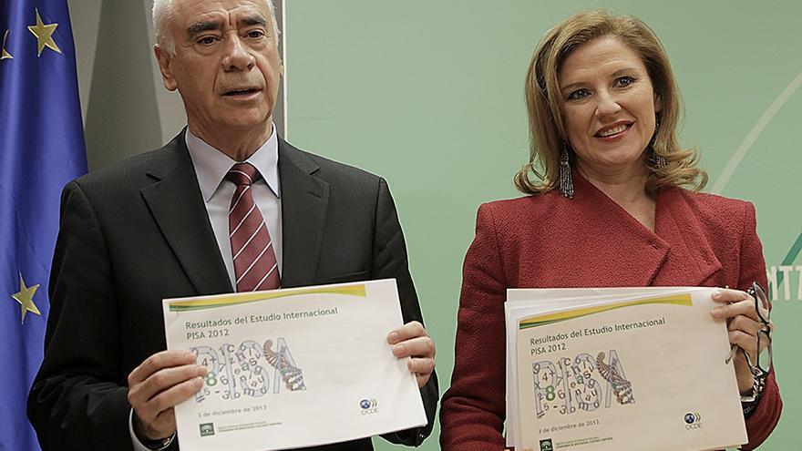El consejero y la secretaria general de Educación de la Junta han presentado los datos del PISA en Andalucía.