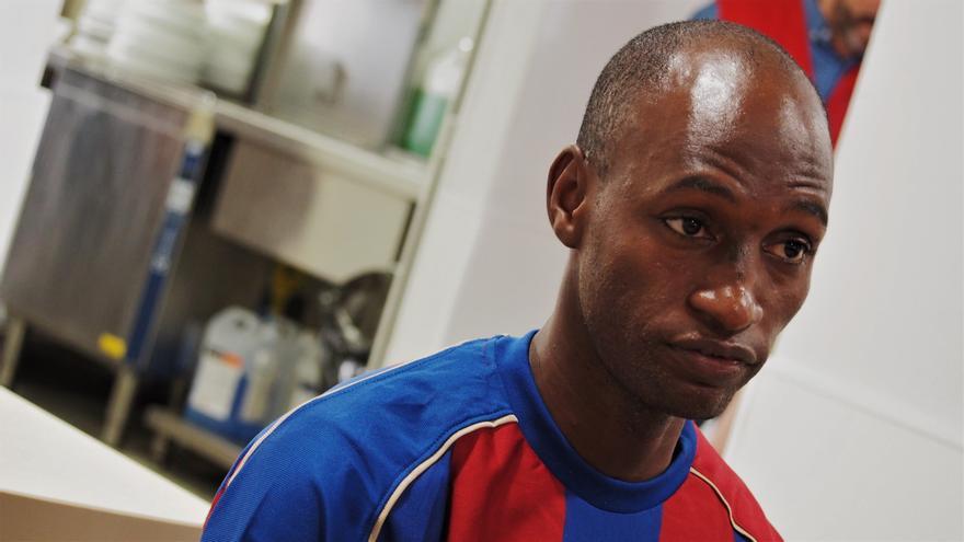 Diallo ha llegado a Barcelona tras más de un año de viaje desde Guinea
