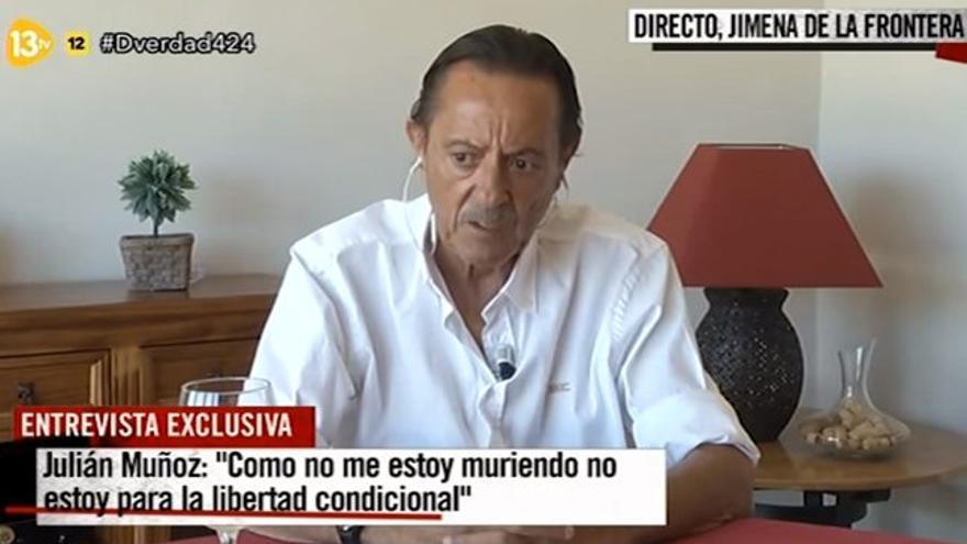 Julián Muñoz reapareció en 13TV: 'Tengo miedo del sistema, te tritura'