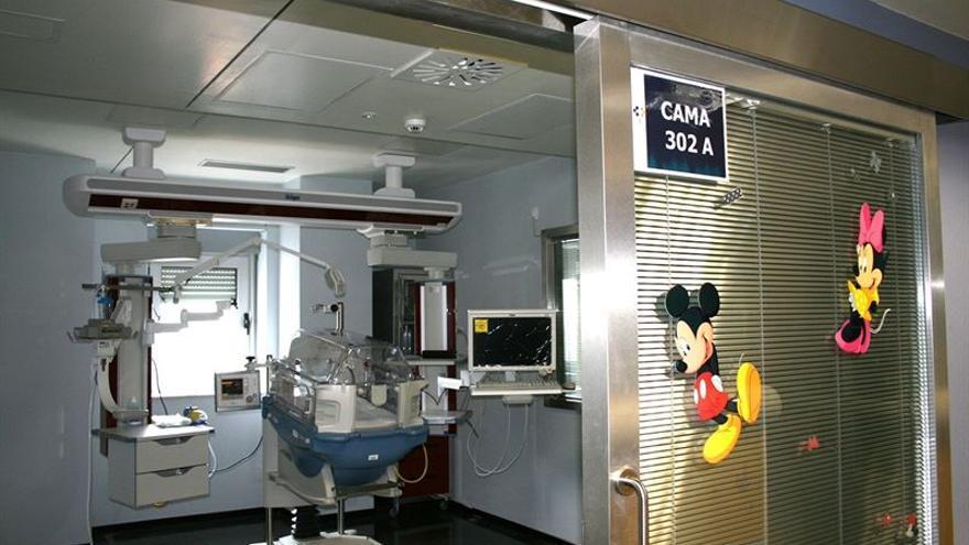 La nueva UCI pediátrica se encuentran en la tercera planta del bloque central de La Candelaria