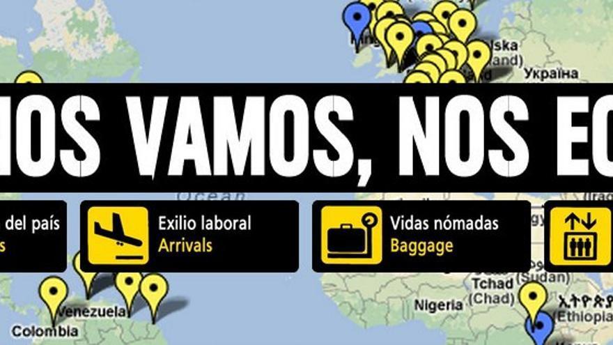 Campaña de Juventud Sin Futuro sobre el exilio juvenil en 2013.