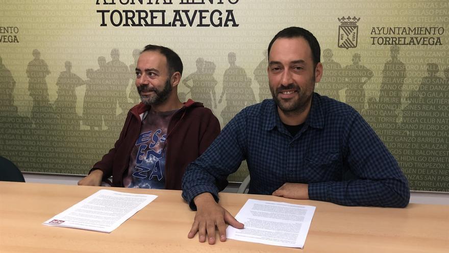 Iván Martínez y Alejandro Pérez en rueda de prensa.   ARCHIVO