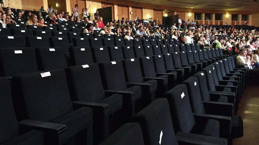 Las butacas vacías de la delegación andaluza en el congreso del PSOE.
