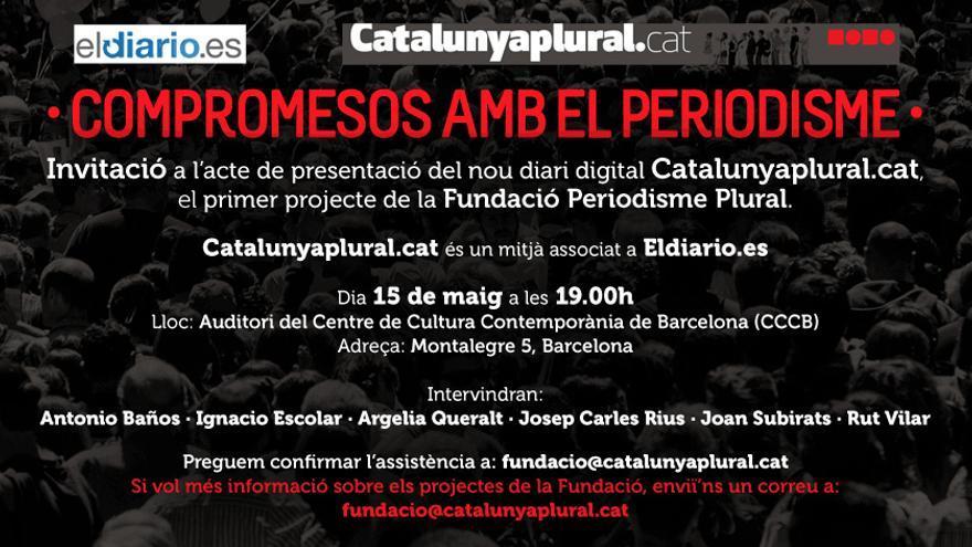 Invitació a l'acte de presentació de Catalunya Plural