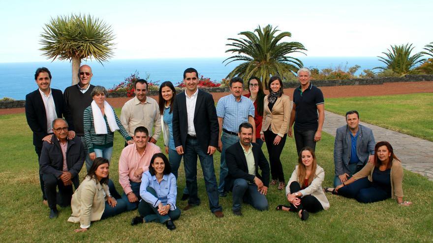 En la imagen, candidatura del PP a la Alcaldía de Breña Baja.