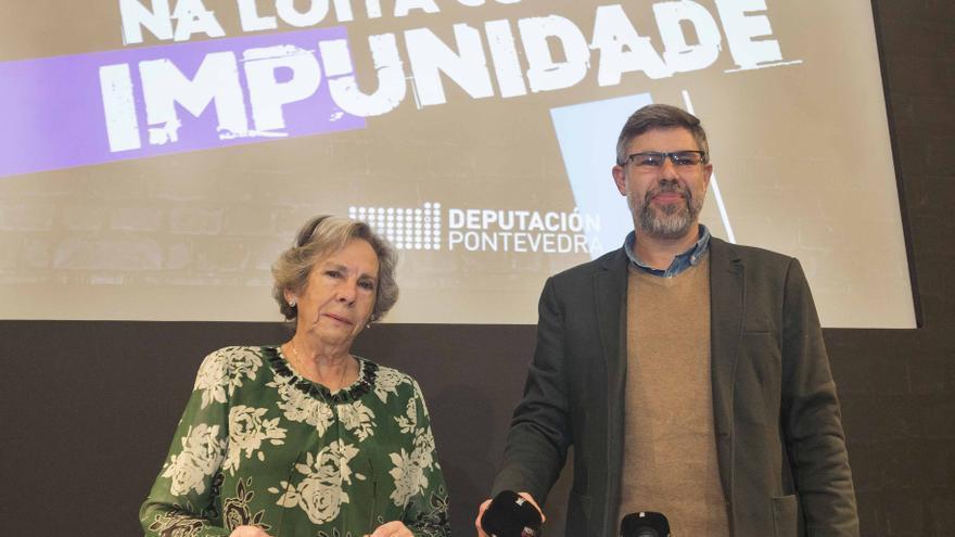 Amalia Bóveda y Valentín G. Bóveda, hija y nieto de Alexandre Bóveda