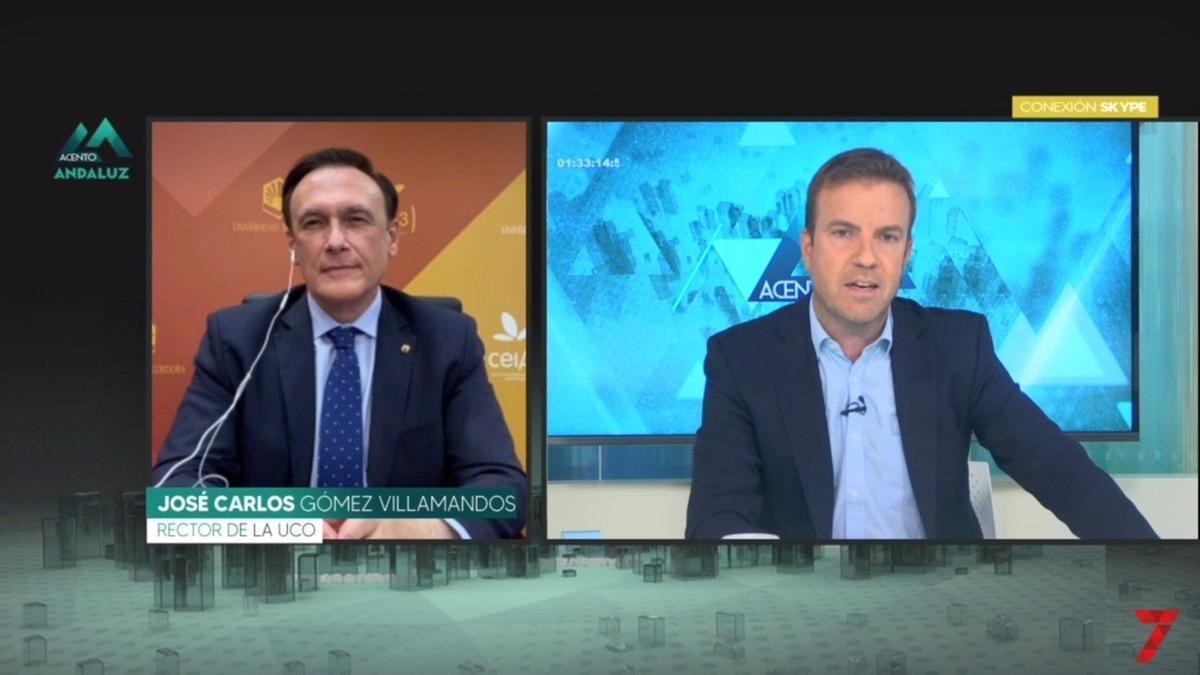 Entrevista con el rector en '7TV'