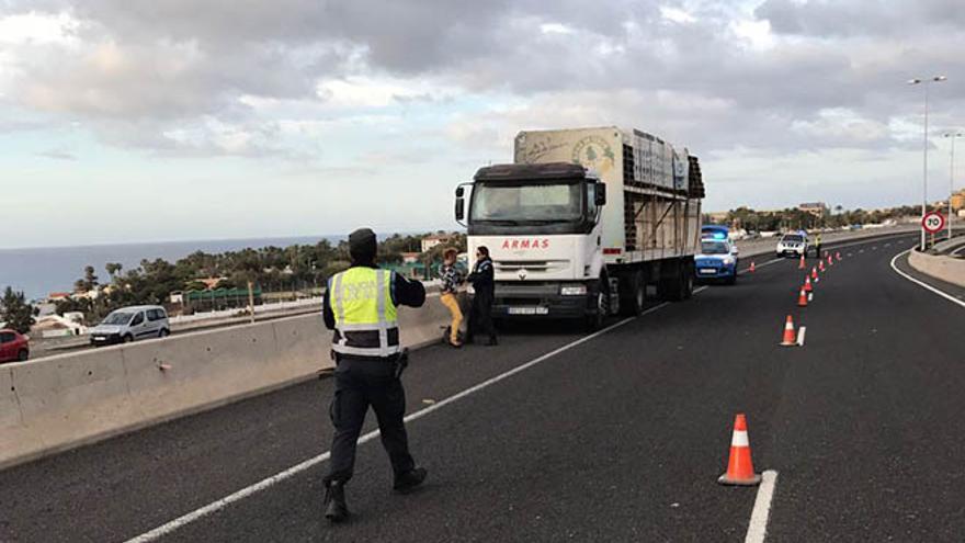 Detención de la mujer que robó un camión de Naviera Armas