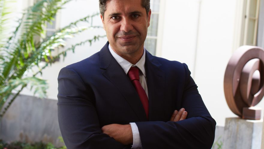 Jesús Ramos en el Parlamento de Canarias